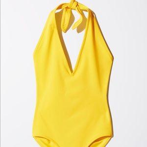 2/$50 ✨ Wilfred V-neck Halter One Piece Swimsuit